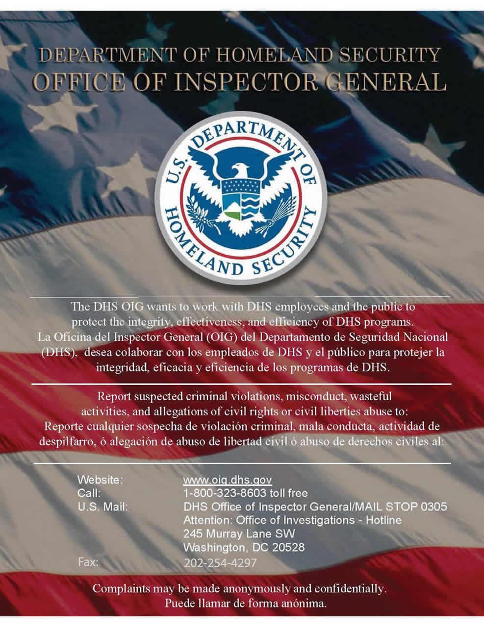 Hotline | Office of Inspector General